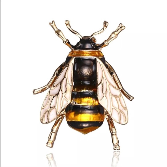 82c31deb366 BEE BROOCH INSECT PIN BUG LAPEL